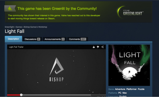 The community showed its support and its keen interest in Light Fall!