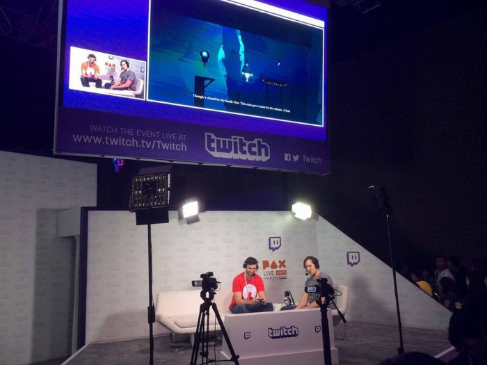 Ben on the Twitch Stage for the Light Fall feature.