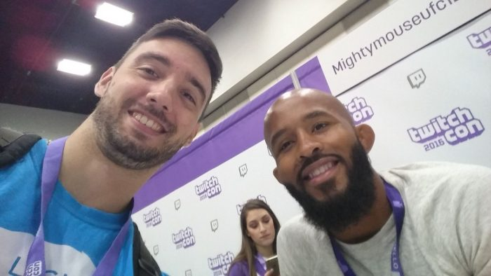 Twitch brings a very diverse crowd, even the UFC champion Demetrious Johnson can be seen streaming regularly.