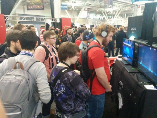 Attracting a huge crowd to your booth is beneficial. It makes other people stop and wonder what everyone is looking at.