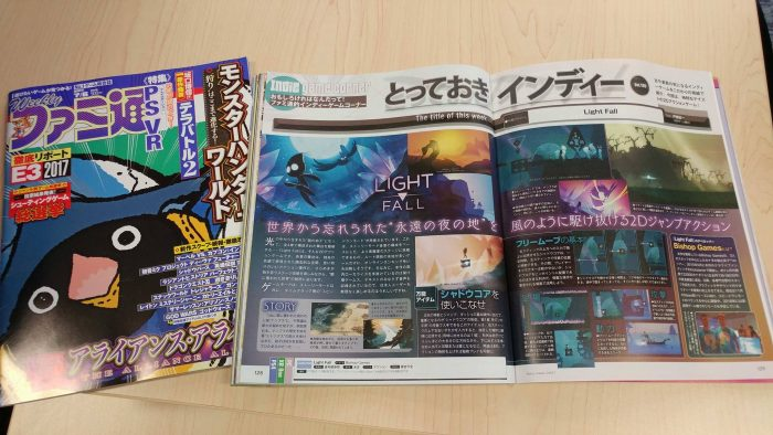 Famitsu liked our game at BitSummit and wanted to do a full feature in its magazine.