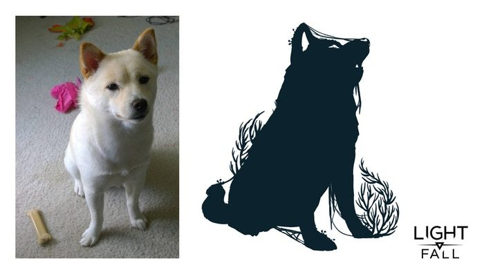 A WIP of a Kickstarter backer's idea: his beautiful dog!